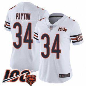 Women Bears Walter Payton 100th Season Jersey (1)